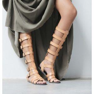 Free people  vegan leather sandal taupe